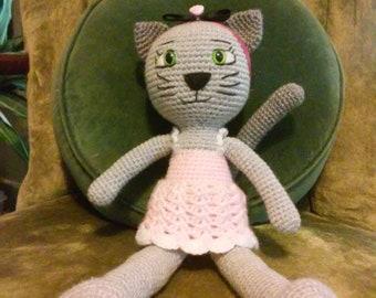 Cat Crocheted Doll