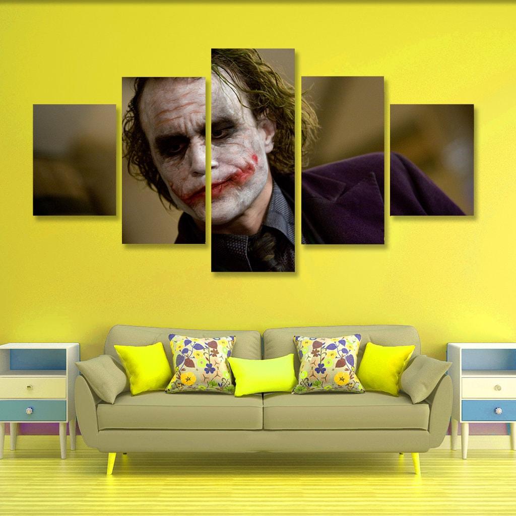 Joker Poster set Joker Wall Art Joker Canvas Art Wall Decor 5 | Etsy