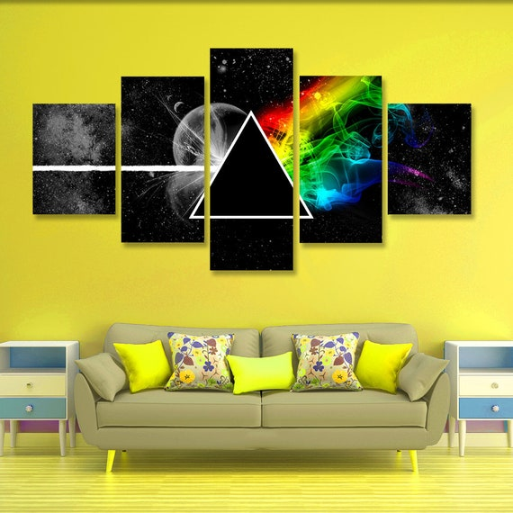 Pink Floyd Poster set Pink Floyd Wall Art Pink Floyd Canvas