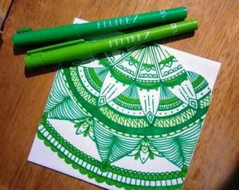 4 pc Mandala Card Set