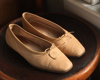 Vintage Chanel Leather Ballet Flats