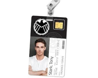 superhero id card etsy