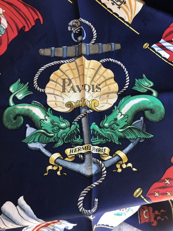 HERMES - carre - PAVOIS - vintage