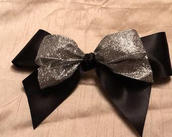 Fancy Black Satin Bow