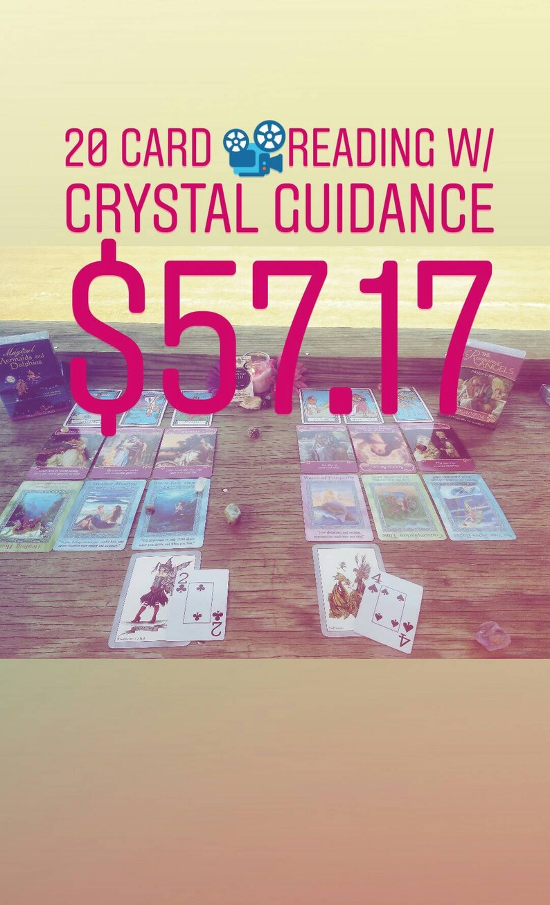 20 Card Video Reading w/ Crystal Guidance  Romance, Soulmate,  TwinFlame,Spiritual