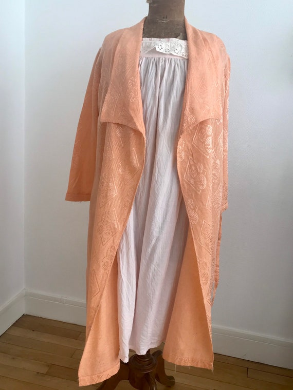 Bathrobe/ cotton dressing gown papered 1920