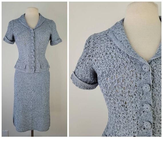 new knitwear 1970s does 1930s knit dress small medium