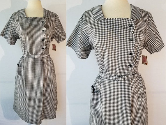 Vintage 1960s DEADSTOCK Size XL black and white gi