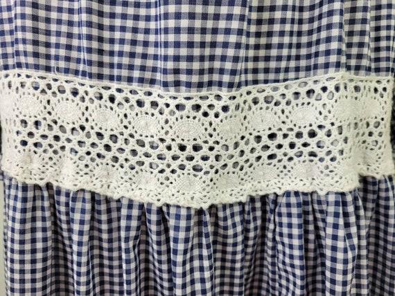 Vintage Gunne Sax gingham maxi dress long sleeves… - image 8