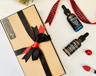 Men's Christmas Box Box, Christmas Box Gift,Organic Beard Face Argan Oil with Atlas Ceder-Lemon,Pure Argan Beard Oil,100% Natural Handmade