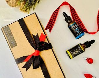 Men's Christmas Box Box, Christmas Box Gift,Organic Beard Face Argan Oil with Atlas Musk,Pure Argan Beard Oil,100% Natural Handmade