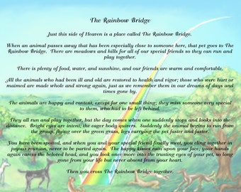 photo relating to Rainbow Bridge Poem Printable titled Rainbow bridge poem Etsy