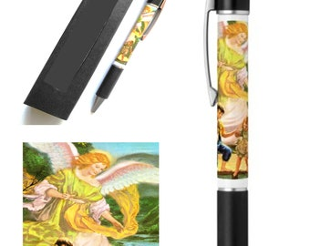 Guardian Angel Ballpoint Pen With Gift Box Stationary Writing Supplies
