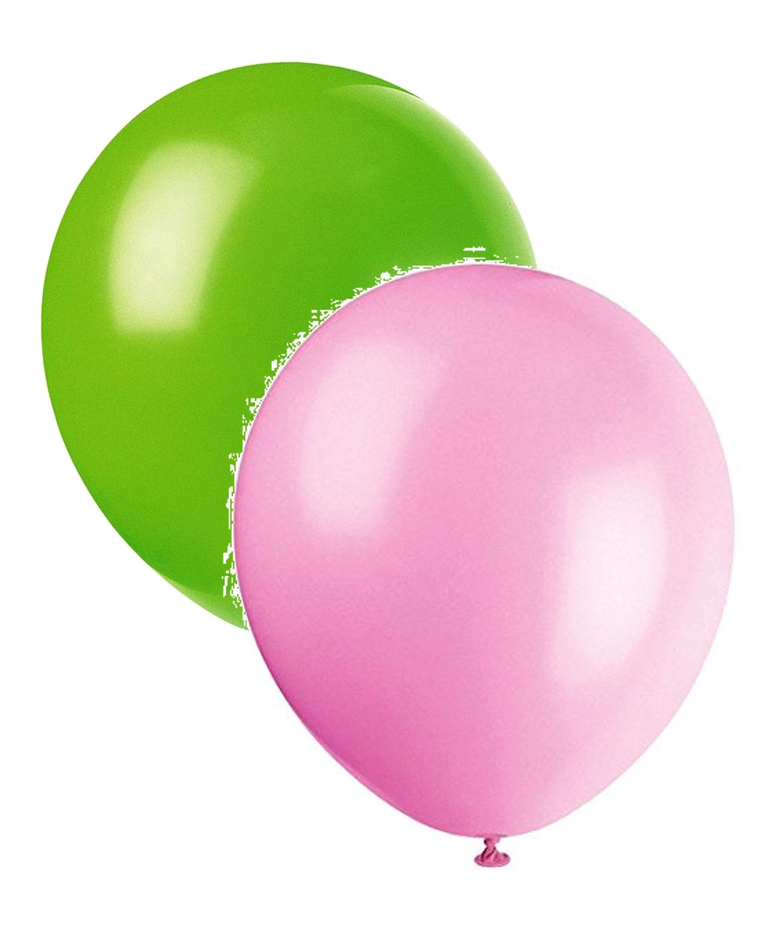 24 Pink and Lime Green Balloons Assorted Pack Birthday Party | Etsy