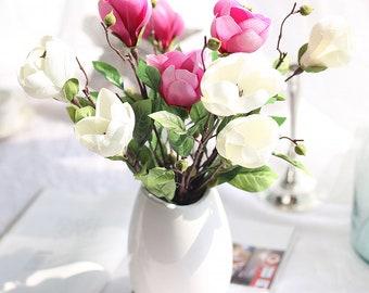 Magnolia centerpiece etsy popular items for magnolia centerpiece mightylinksfo
