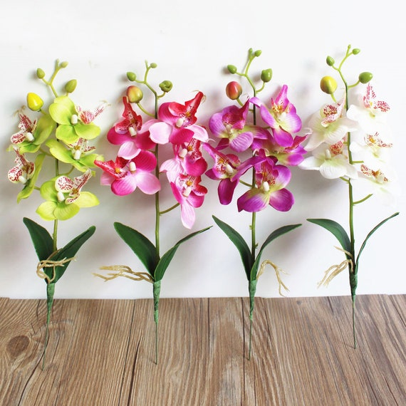 Artificial Flower Phalaenopsis Bouquets For Wedding Decor Wedding Centerpieces Arrangement Fake Flower Home Decoration Table Decor Flower