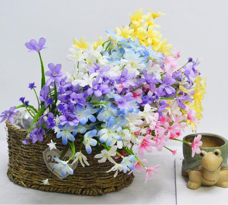 Artificial Flower Small Lily Bouquets for Wedding Decor,Wedding Centerpieces Arrangement,Fake Flower Home Decoration,table decor flower