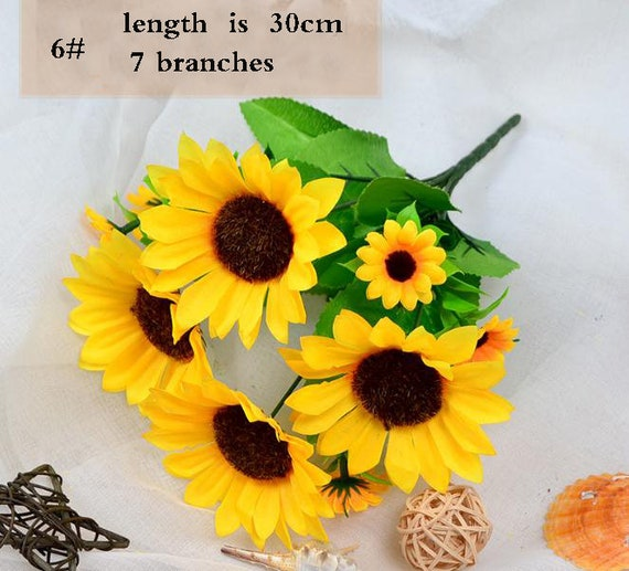 Artificial Sun Flower Bouquets For Home Decoryellow Sunflower Etsy
