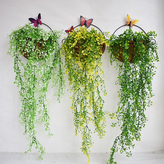 Artificial Flower Fake Plants Wall Hanging Decor for Wedding,Romantic flower Wall Decor for Living Room,Hotel,Dedroom Wall Decoration