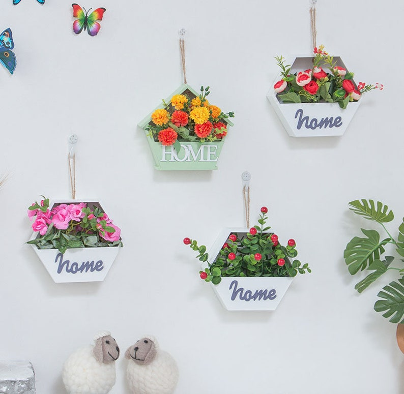 Artificial Flower Fake Plants Wall Hanging Decor For Wedding Etsy