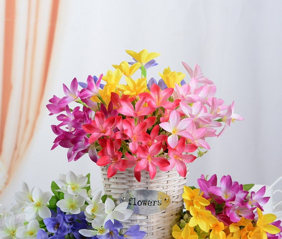 Artificial Flower Silk Small Lily Bouquets For Bridalwedding Etsy