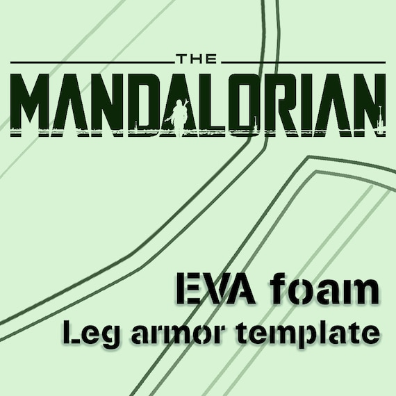 The Mandalorian Death Watch Leg Armor Template Etsy