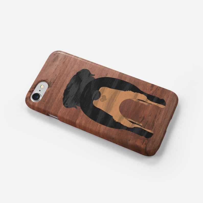 Rottweiler Phone Case Rottweiler Butt Phone Case with a Wood Inlay Effect Rottweiler Love Rottweiler Case