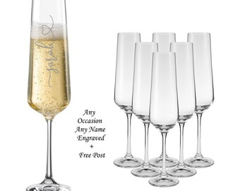 Personalised BIRTHDAY Pink Diamante Champagne Flute Gift For 18th//21st//30th//40th