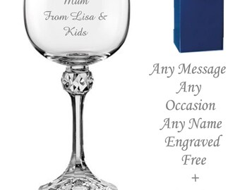 Engraved wine glass | Etsy