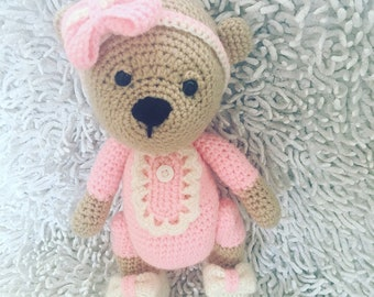 Crochet teddy bear, crochet toy