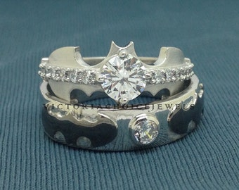 Wedding Ring Set His And Hers Etsy