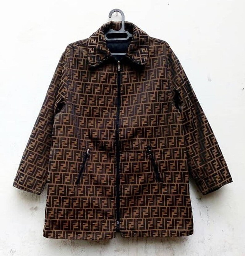 fc794e391aaa Vintage Fendi zucca Monogram Jacket Size L