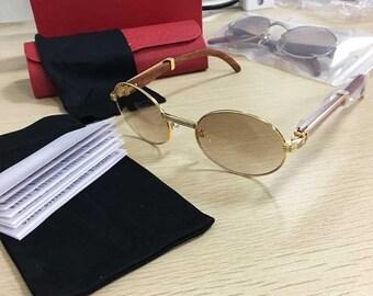2bc0c8e1468b Cartier Style Wood Sunglasses