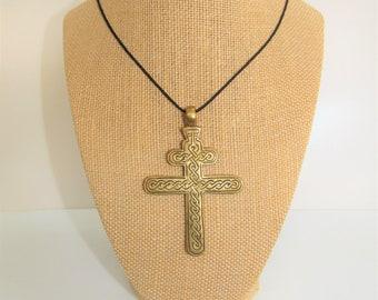 Solid Brass Lorraine Cross,Brass Cross,Brass Cross pendant,Lorraine Cross,Celtic Lorraine Cross,Celtic Cross,Celtic Pendant,Celtic Unisex
