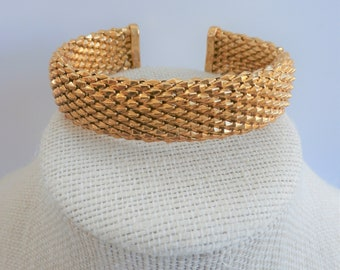 "Vintage Italian Bronze Cuff,Silver-Large 8"" bracelet, Nickel Free and Tarnish resistant,never worn, flexible"