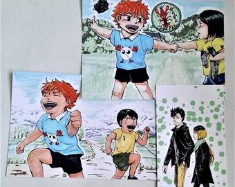 Assorted Haikyuu Characters postcard