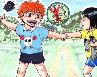 Haikyuu, Hinata & Kenma, 3 x A5 postcard