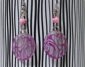 Pink circles earrings