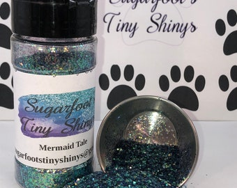 Glitter-Mermaid Tale (polyester glitter, plastic glitter, glitter, embellishments, crafts, scrapbooking, tumblers, nail art)