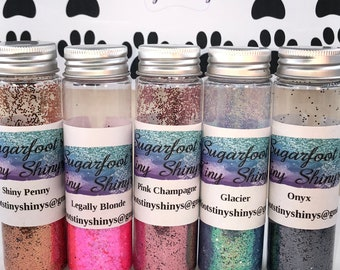 Glitter-Test Tube Testers  (polyester glitter, plastic glitter, glitter, embellishments, crafts, scrapbooking, tumblers, nail art)