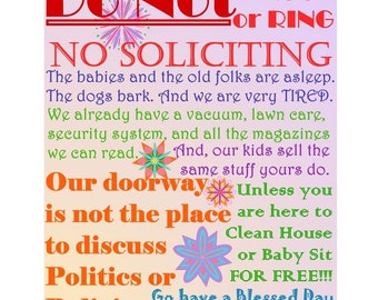 No Solicitors, PLEASE