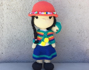 Crochet Pattern Amigurumi Coyita Aimara PDF - Patron Ganchillo Amigurumi Coyita Aimara PDF