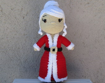 Crochet Pattern Mrs. Clauss PDF - Patron Ganchillo Amigurumi Sra. Clauss