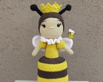 Crochet Pattern Amigurumi Queen Bee PDF - Patron Ganchillo Amigurumi Abeja Reina PDF
