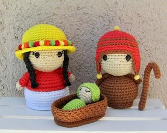 Crochet Pattern Amigurumi Nativity PDF - Patron Ganchillo Amigurumi Sagrada Familia PDF