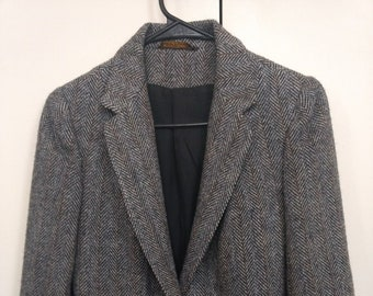 Swingles by Character Vintage Wool Blazer Size 5-6 Womens Gray Union Vintage
