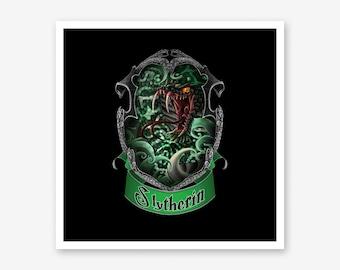 Slytherin Harry Potter Gift Hogwarts Harry Potter Decor Home Decor Print