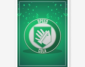 Call of Duty Zombies Speed Cola Perk a Cola - Black Ops 4 Zombies Perk Framed Art Poster