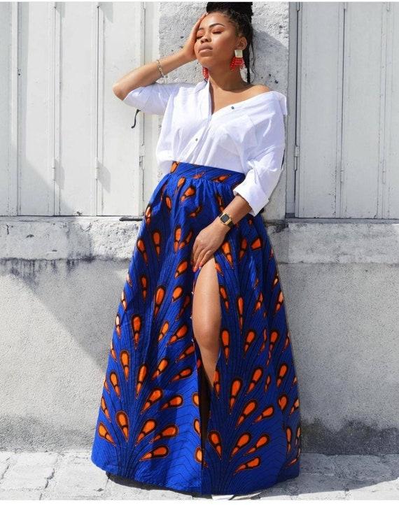 African print long skirt Wax print skirt 2pce ankara skirt Multi coloured skirt Ankara maxi skirt Ankara skirt