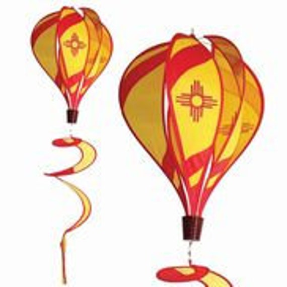 Hot Air Balloon Spinner New Mexico Wind Chime Etsy
